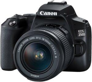 Canon EOS 250D 24.1MP SLR With 18-55mm III Lens