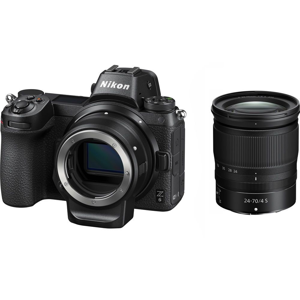 NIKON Z6 Mirrorless With 24-70mm Lens And FTZ Mount Adapter