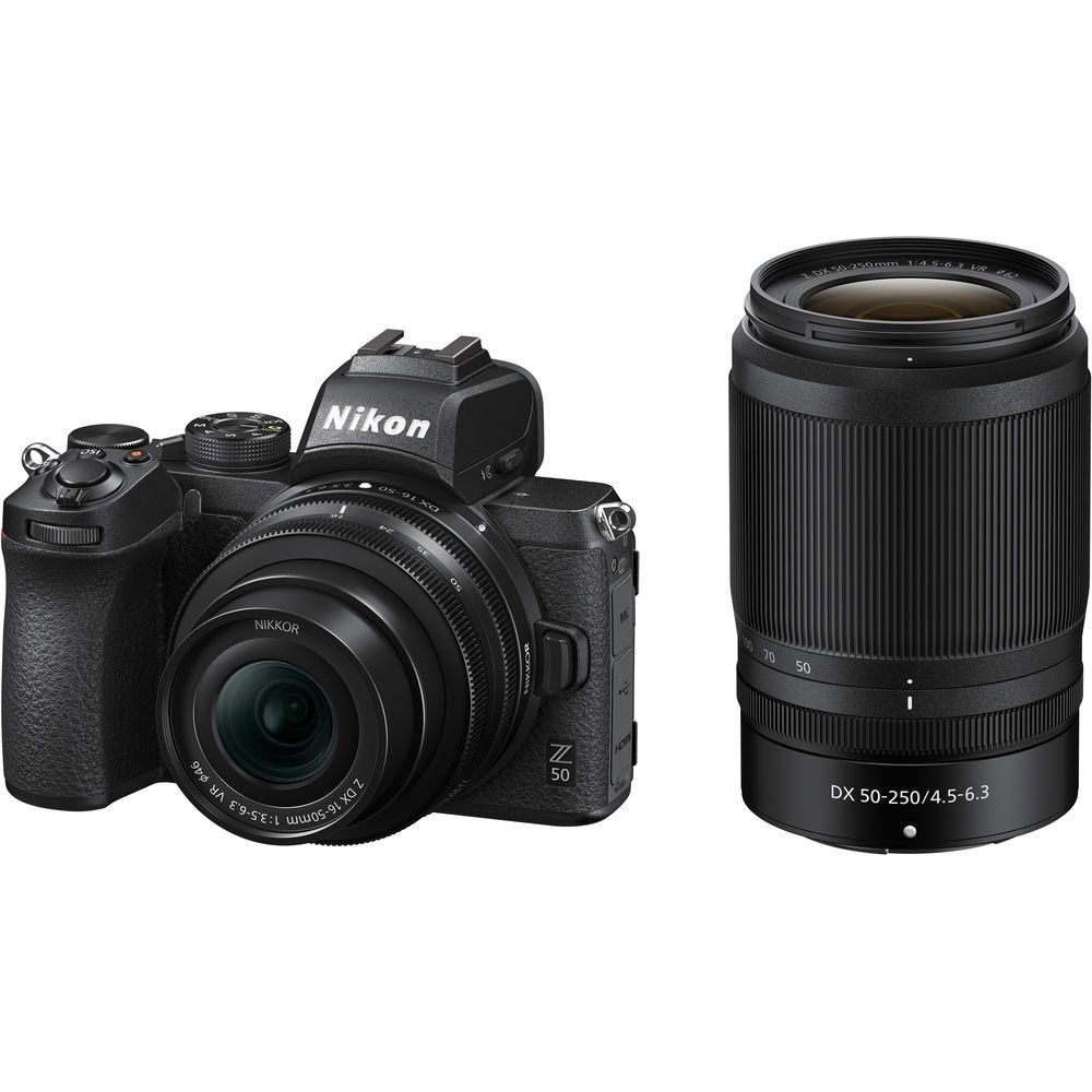 Nikon Z50 With 16-50mm Lens And 50–250mm f/4.5–6.3 VR Lens