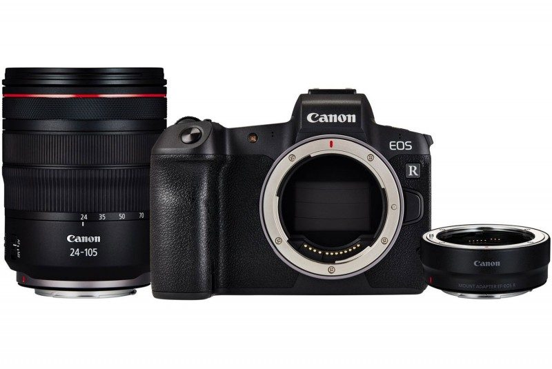 CANON EOS R With RF 24-105mm f/4L IS USM And Adapter