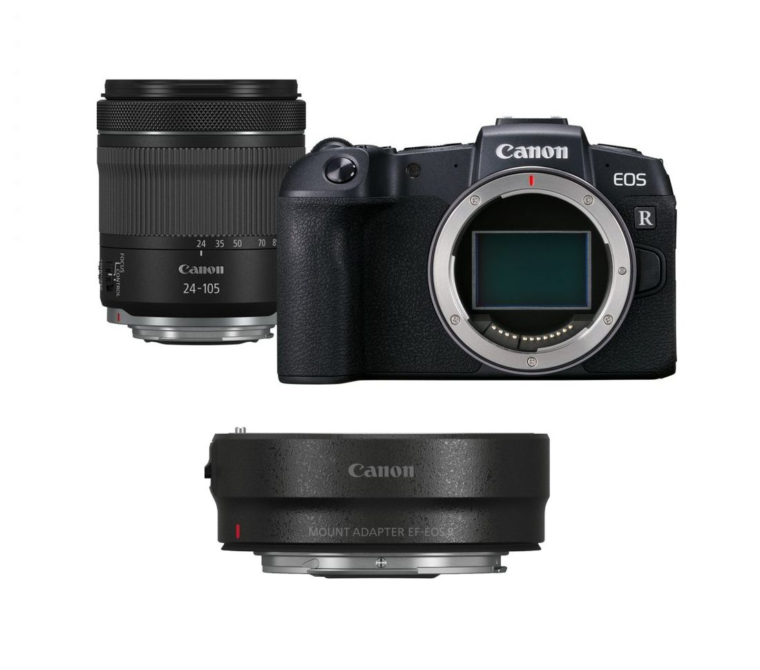 Canon EOS RP With RF 24-105 4-7.1 IS STM Lens And Adapter