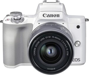 Canon EOS M50 MK II Mirrorless 4K With 15-45mm Lens - White