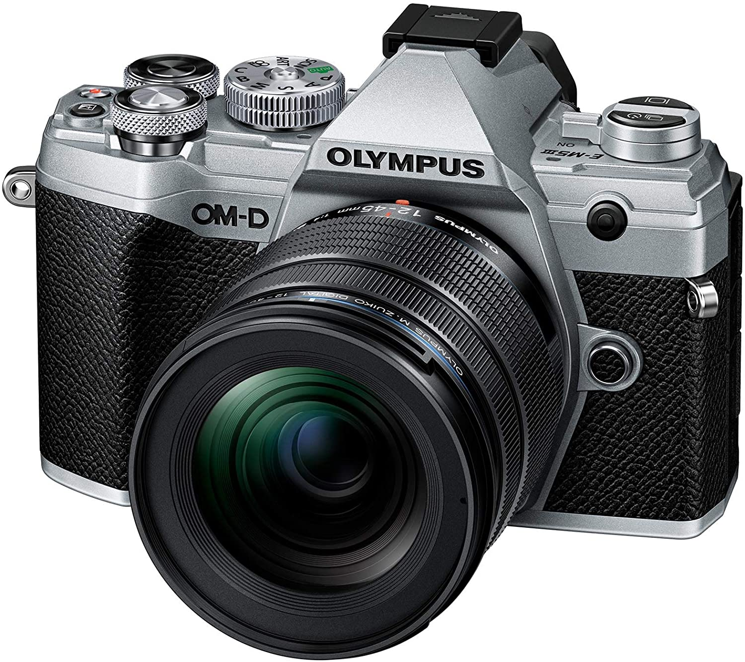 Olympus OM-D E-M5 Mark III Mirrorless with 12-45mm Lens - Silver
