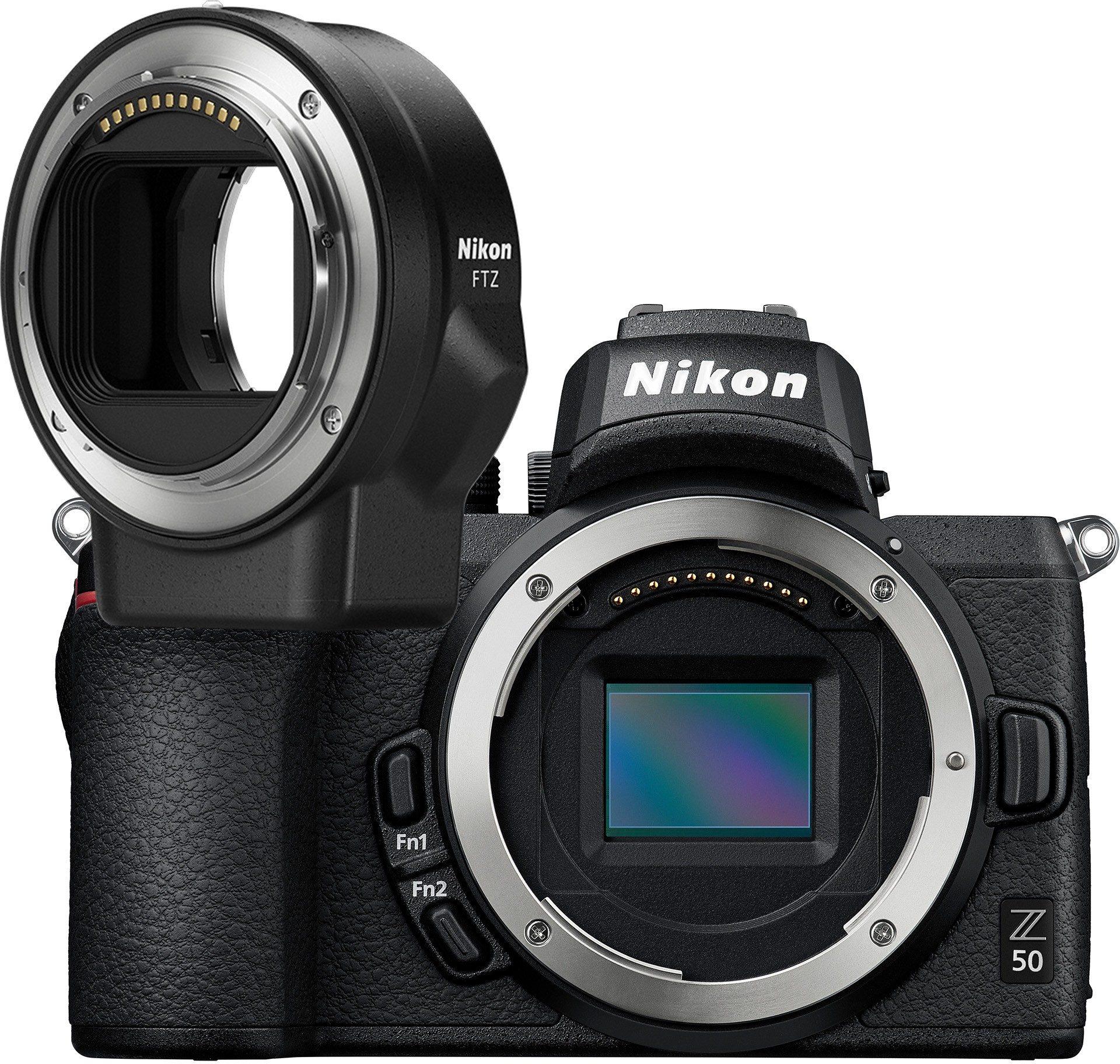Nikon Z50 Digital Camera Body + FTZ Adapter